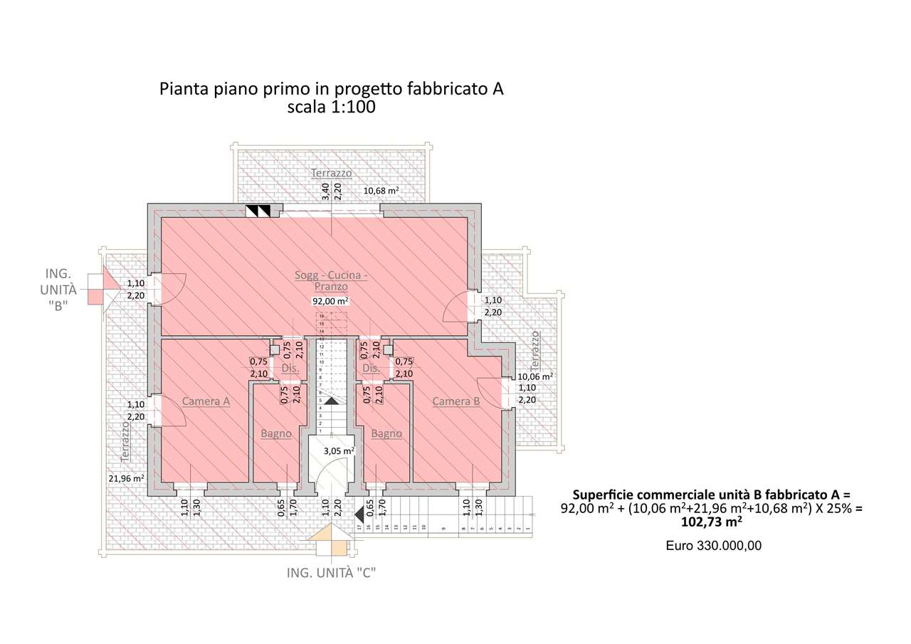 Quadrilocale in vendita - 104 mq