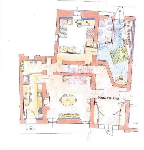 Appartamento in affitto a Busseto, 4 locali, prezzo € 500 | Cambio Casa.it
