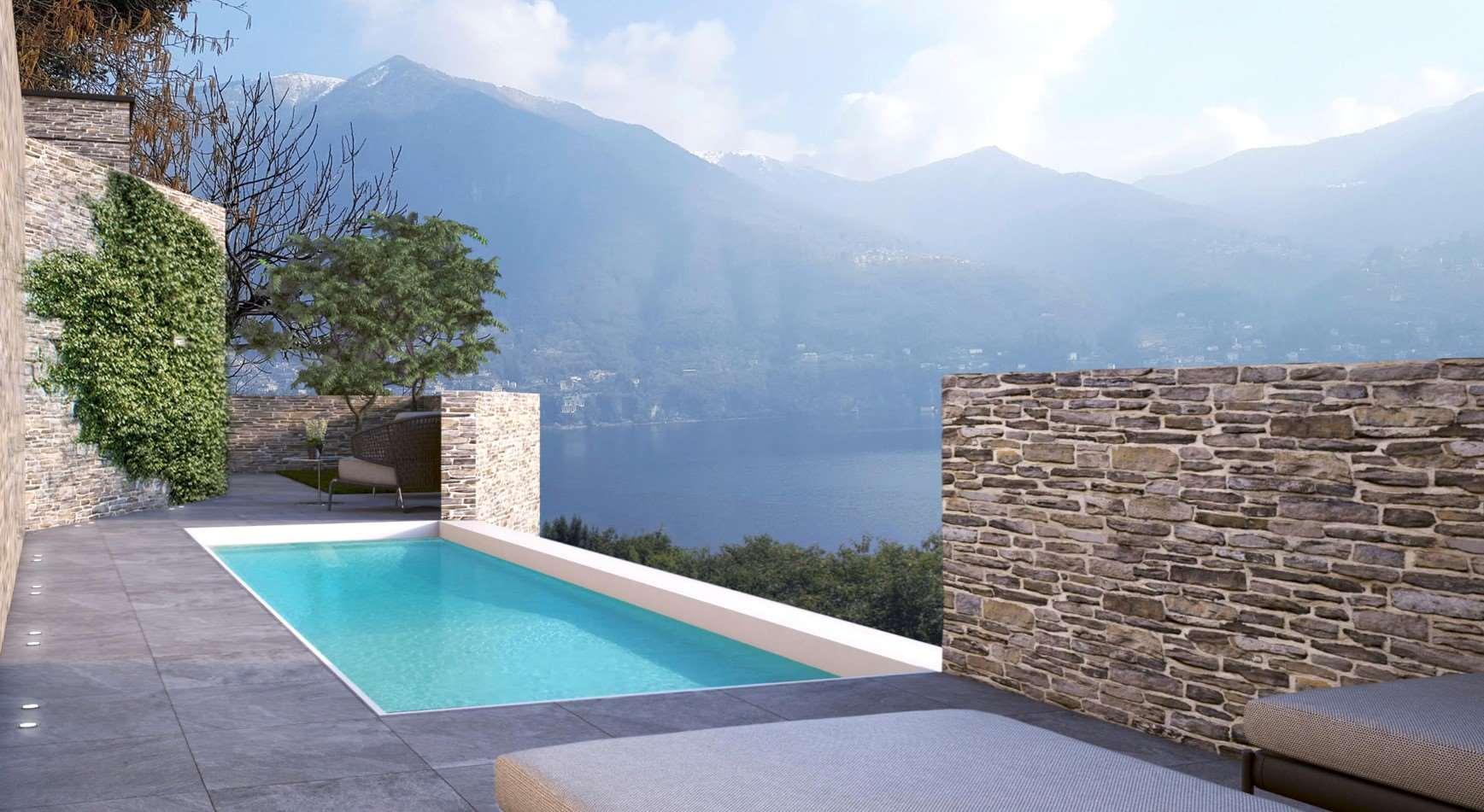 Lussuosa villa moderna vista lago Gallery