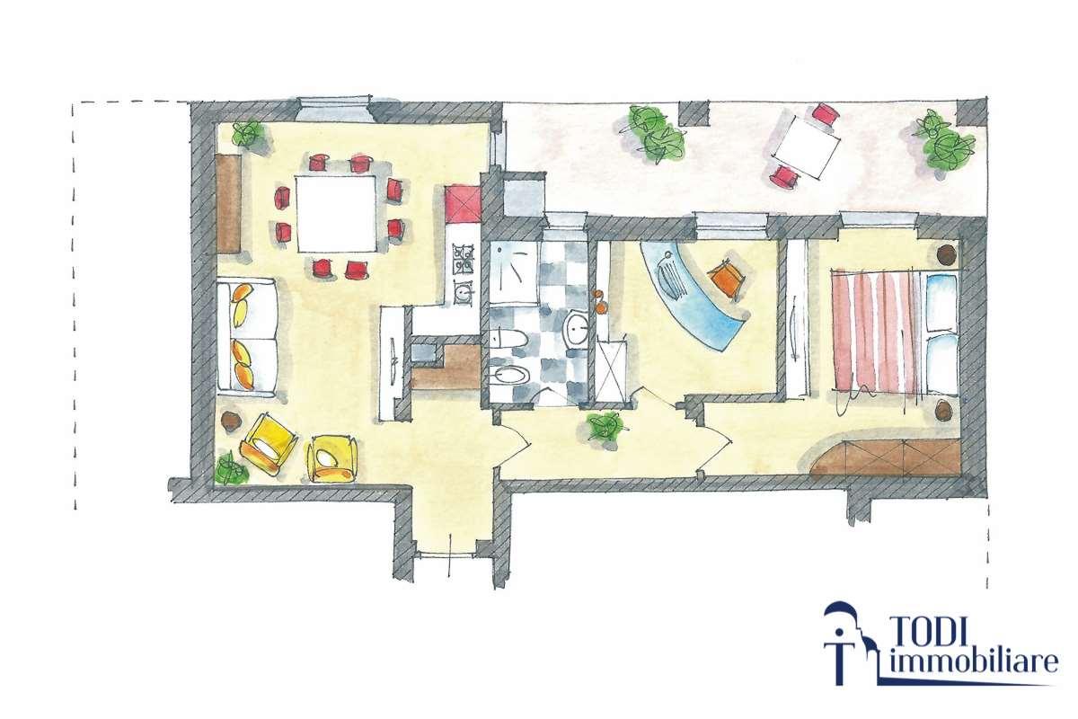 Appartamento in vendita a Todi, 3 locali, prezzo € 117.000 | CambioCasa.it