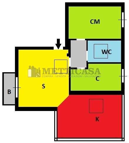 Appartamento in vendita a Lacchiarella, 3 locali, prezzo € 200.000 | CambioCasa.it