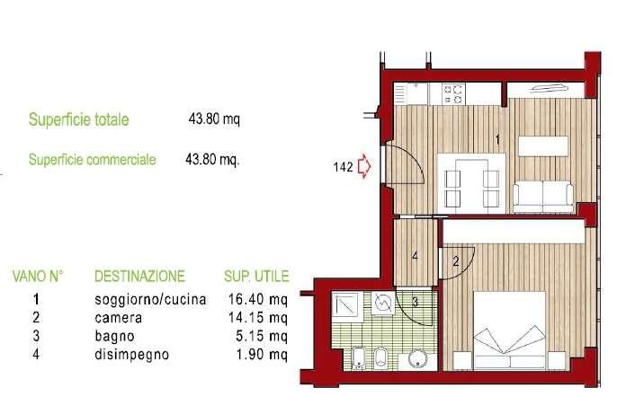 Appartamento in vendita a Potenza Picena, 2 locali, zona Zona: Porto Potenza Picena, prezzo € 95.000 | CambioCasa.it